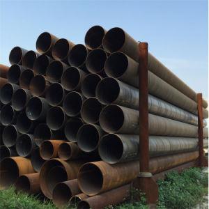 螺線形の鋼管の黒の円形の管