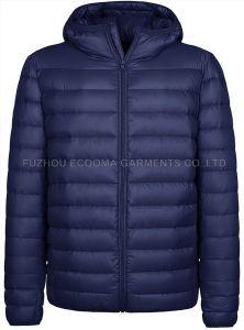 L'hiver chaud Hoody à manchon long faux Down Jacket pour Mens