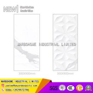 tegel van de Muur van 300X900mm de Witte Glanzende Verglaasde Ceramische Binnenlandse
