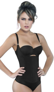 El Látex de color beige Cincher cintura Neopreno Trainer adelgazamiento Body Shaper