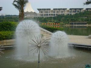 Het openlucht Decoratieve Hoofd van de Fontein van de Paardebloem van het Water van de Nevel