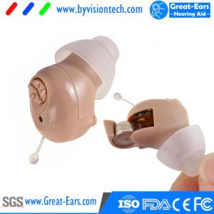 Amplificatore Cic di udienza di Digitahi invisibile nella protesi acustica dell'orecchio alla sanità di udienza con la batteria dell'aria dello zinco