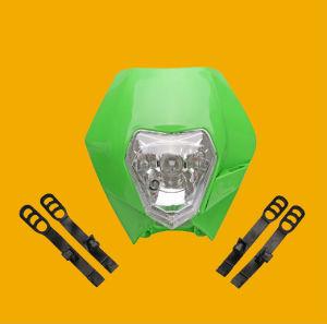 Motorrad-Licht-/Motorrad-fahrende Licht-/Ktm Schmutz-Fahrrad-Motorrad-Straßen-Kämpfer-Superbewegungsscheinwerfer-(schwarzes/weißes Orange/Grün)
