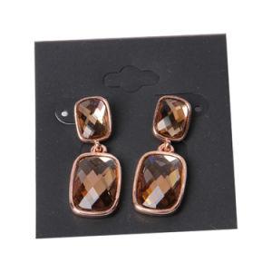 めっきされるブラウンのガラス玉のローズの金が付いている方法宝石類のイヤリング