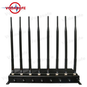 8 Afstandsbediening van de Auto van Wimax 4G Lte van de Telefoon van de Hoge Macht van antennes de Mobiele 3G 4G 4G GSM CDMA van 315/433 Mhz Draagbare 2g 4G Lte Blocker van het Signaal van de Telefoon van de Cel