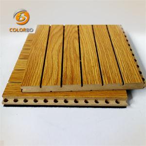 Bois de construction en bois rainuré Non-Irritating Panneau acoustique pour salle de pratique