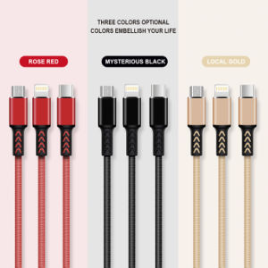 2.4A Tipo-c elettrico cavo del collegamento del caricatore di dati del USB