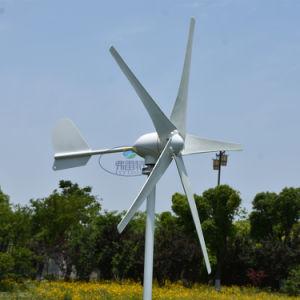 Nominal de 600W 400watt Aerogenerador 5 hojas pequeño molino de viento generador eólico de baja arranca con el controlador de viento a prueba de agua