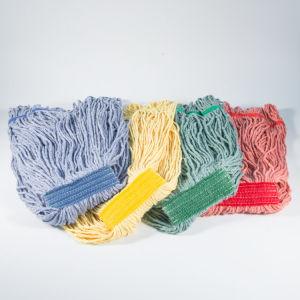 Heavy Duty 4 telas de hilados de algodón blanco natural de la cabeza del Mop