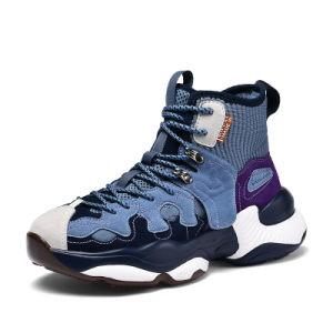По верхней части кроссовки мужские спортивные носки рот баскетбольная обувь мода громоздкие единственной папа обувь мужчин