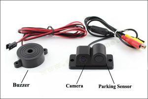 2 в 1 автомобильной камеры заднего вида парковочный датчик системы