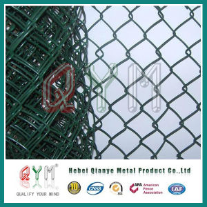 Valla de malla con revestimiento de plástico rollo/cercado de la cadena para la construcción