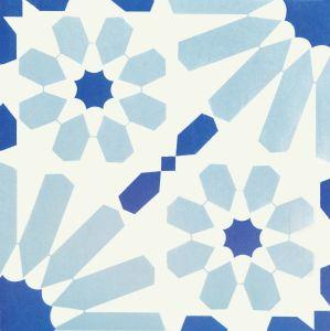 Blauw Decoratie Verglaasd Porselein Tile20*20cm