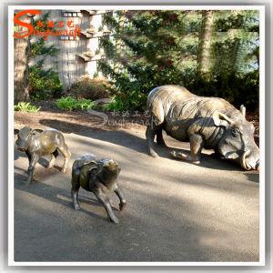 La decoración de jardín de esculturas de animales adornamiento artificial de metal