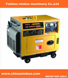 침묵하는 디젤 엔진 발전기 (NB3GF-5GF-LED/3)