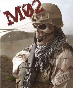 2 цветов регулируемый Airsoft защиты военных в связи со смертью череп защитную маску