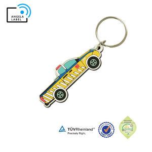 Anello portachiavi molle a forma di su ordinazione di vendita caldo della gomma della modifica chiave di marchio del PVC Keychain dell'OEM 2D