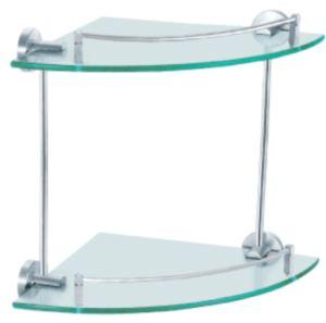 Prateleira de canto de vidro / prateleira de banheiro / prateleira de banheiro de vidro