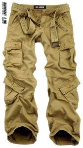 Pantaloni casuali lunghi delle caselle del Mens del carico solido di disegno (145)