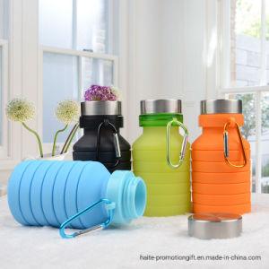 Estilo de una botella de agua caliente estudiante telescópico creativa Copa portátil de viaje Deportes al aire libre de gel de sílice plegado de la botella de agua