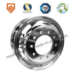 22,5X6.75 22.5X7.50 Super calidad de aluminio forjado de la rueda de carretilla para la personalización