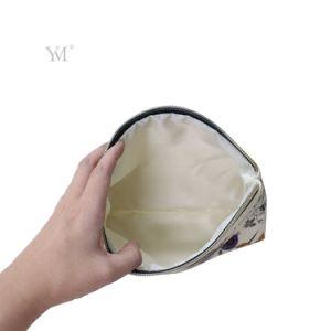 De mooie Kosmetische Zak van de Douane van de Make-up van Pu met de Druk van de Bloem