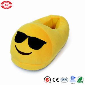 Expresión amarga Ver peluche amarillo Zapatillas de peluche suave Zapata Emoji