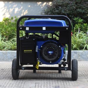 車輪およびハンドル強いフレームの単一フェーズの発電機とのバイソン((m) 3kw 3kVA中国) BS4500pの容易な移動