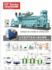 Generatore elettrico di vendita 250kVA Kanpor della fabbrica di Kanpor del biogas diretto del gas