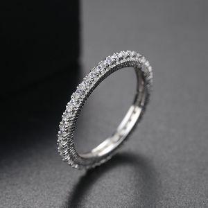 925 Sterling Silver Fashion CZ Bagues doigt