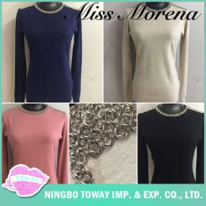 Lavori o indumenti a maglia lunghi di modo delle donne del pullover del ponticello del Knit di inverno da vendere
