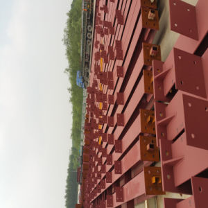 La construcción de la estructura de acero de alta calidad para el taller