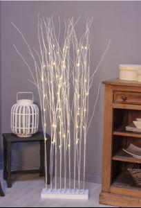 Bosque de paja iluminado árbol de la decoración de Navidad LED