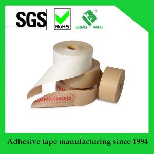 Reforzado engomado cinta de papel Kraft fuerte para el transporte de agua y sellado de la cinta activa