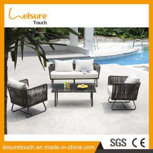 Personalizar el diseño único jardín sofá de mimbre con varios cojines