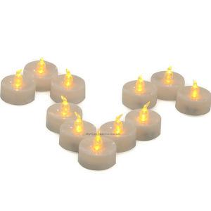 LED de bateria de cintilação Amarelo Flameless LUZ DE CHÁ POR GROSSO