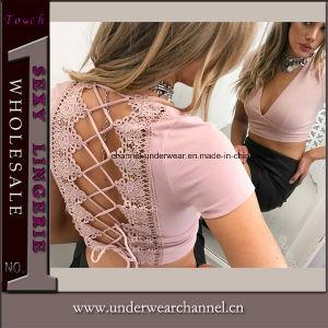 Lady shirt floral estivale décontractée & chemisier vêtements sexy Tops