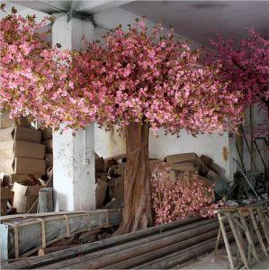 Árvore de flores artificiais em vermelho no fabricante profissional