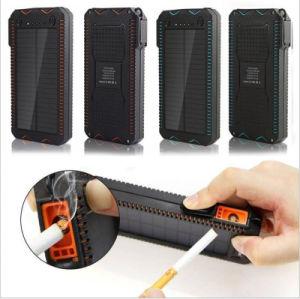 Banco de la Energía Solar multifuncional con el encendedor de cigarrillos 10000mAh