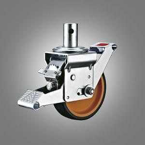 En1004 Scaffoling самоустанавливающиеся 200X50мм нейлон Core PU самоустанавливающегося колеса