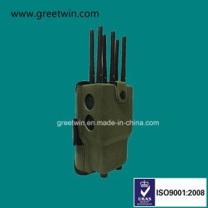 emittente di disturbo portatile del telefono delle cellule della casella militare del fodero 5.5W (GW-JN8Z)