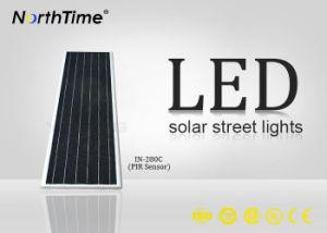 80W de alto poder, todo-en-uno el ahorro de energía LED lámpara solar de la calle