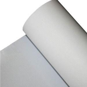 くわによって薄板にされる印刷材料が付いている灰色の背部屈曲の旗