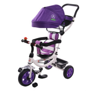 De roterende Driewieler Met drie wielen Met drie wielen van de Baby van de Kinderen van de Zetel