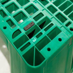 Grade de armazenagem de paletes de plástico resistente com 8 tubos de aço