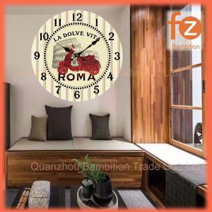 Caliente la venta de varios estilos innovadores comercio al por mayor Reloj de pared Pared Vintage Antiguo reloj redondo de madera para la decoración del hogar016107-67 Fz.