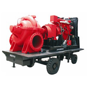 Moteur diesel mobile d'urgence de la pompe incendie à l'eau