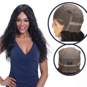 360 Spitze-Perücke-Menschenhaar-Perücke-brasilianische gerade Karosserien-lockiges natürliches Farbe Remy Haar mit dem Baby-Haar