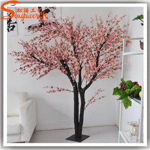 Interior de alta qualidade falso Artificial Mini Cherry Blossom Tree