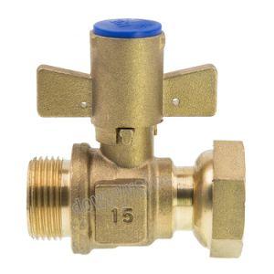 Valvola d'ottone chiudibile a chiave del metro ad acqua della valvola a sfera con il connettore